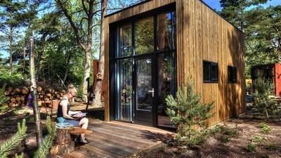 Vakantiepark met zwembad de Zanding Type TH: Tiny House